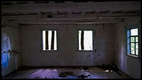 Les fenêtres dans la maison Photographie stock