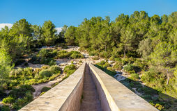 Les Ferreres Aqueduct, also known as Pont del Diable - Tarragona, Spain. Les Ferreres Aqueduct, also known as Pont del Diable. A part of the Roman aqueduct built stock images