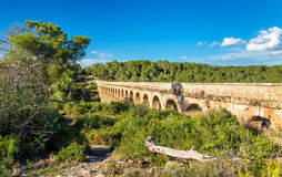 Les Ferreres Aqueduct, also known as Pont del Diable - Tarragona, Spain Royalty Free Stock Photos