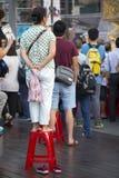 Les festivals de temple du ` s de Taïwan, carnaval, foules, observent l'exposition images stock