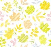 Les feuilles des arbres, fond sans couture, blanc, couleur, ombrage, vecteur Image stock