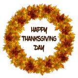 Les feuilles tressent pour l'invitation ou la carte postale de jour de thanksgiving illustration stock