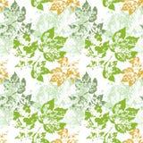Les feuilles vertes dirigent sans couture transparent de vert de mod?le illustration stock