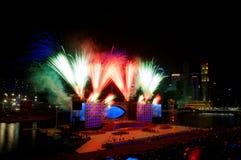 Les feux d'artifice affichent pendant le NDP 2009 Images stock