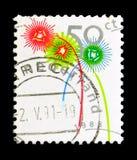 Les feux d'artifice, décembre emboutit le serie, vers 1988 Image stock