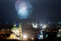 Les feux d'artifice 2016 de nouvelle année Images libres de droits