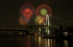 Les feux d'artifice est symbole des célébrations Images libres de droits