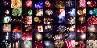Les feux d'artifice murent (Merce 2009) Photographie stock libre de droits