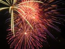 Les feux d'artifice ont éclaté 2 Image stock