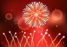 Les feux d'artifice puissants de vacances, ENV 10 Photo libre de droits