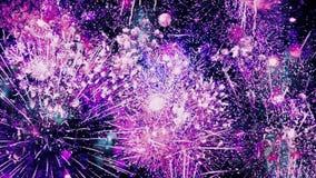 Les feux d'artifice sans fin font une boucle banque de vidéos