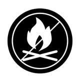 Les feux sont icône interdite de solide de signe Illustration de vecteur d'isolement sur le blanc conception de style de glyph, c illustration stock