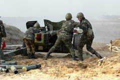 Les feux ukrainiens de rapière d'arme à feu Photos libres de droits