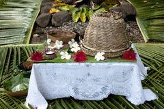 Les Fidji - Tableau préparé pour des invités photos libres de droits