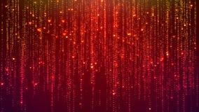 Les filets éclatants en baisse de particules de coeur, pleuvant les particules rougeoyantes de scintillement, font signe le fond illustration libre de droits
