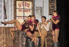 Les filles de Dancehall amusent dans le sketch Image libre de droits