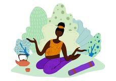 Les filles de yoga dirigent l'ensemble illustration de vecteur