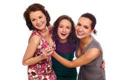 les filles groupent heureux Images libres de droits