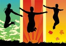 Les filles sautent Photo libre de droits