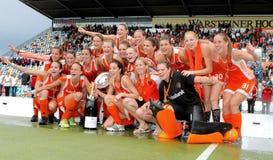 Les finales des femmes. Cuvette européenne Allemagne 2011 d'hockey Photographie stock