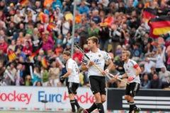 Les finales des hommes. Cuvette européenne Allemagne 2011 d'hockey Photos libres de droits