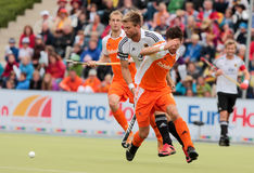 Les finales des hommes. Cuvette européenne Allemagne 2011 d'hockey Photographie stock
