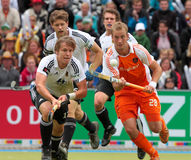 Les finales des hommes. Cuvette européenne Allemagne 2011 d'hockey Photo stock