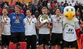 Les finales des hommes. Cuvette européenne Allemagne 2011 d'hockey Images libres de droits