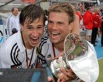 Les finales des hommes. Cuvette européenne Allemagne 2011 d'hockey Photos stock