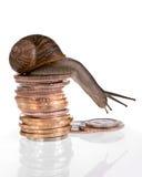 les finances ralentissent Photo libre de droits