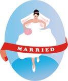 Les finis de mariée Photo libre de droits