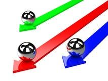 Les flèches colorées Images libres de droits