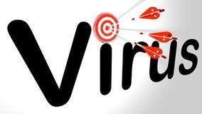 Les flèches de Cybersecurity ont frappé le virus illustration de vecteur