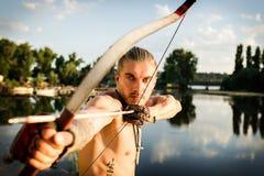 Les flèches de la rivière d'arc Images libres de droits