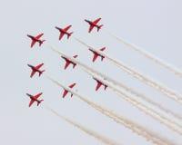 Les flèches rouges Photo libre de droits