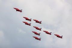 Les flèches rouges Photos libres de droits