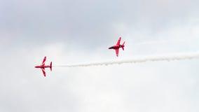 Les flèches rouges Photo stock