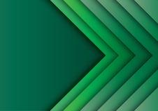 Les flèches vertes soustraient le fond avec le style de papier d'art illustration stock