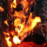 Les flammes du feu photographie stock
