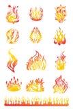 Les flammes ont placé 01 illustration de vecteur