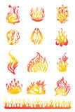 Les flammes ont placé 01 Photos stock