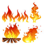 les flammes ont placé Photo stock