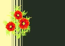 Les fleurs abstraites s'embranchent avec le fond Illustration de Vecteur