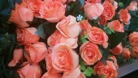 les fleurs artificielles se sont levées Image libre de droits