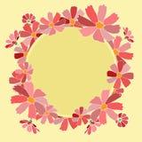 Les fleurs cardent la date d'économies Image libre de droits