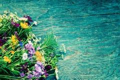 Les fleurs d'été raillent  Image stock