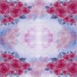 Les fleurs de se sont levées - papier peint Aquarelle de dessin collage Image stock
