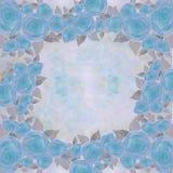 Les fleurs de se sont levées - papier peint Aquarelle de dessin collage Photo libre de droits