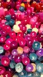 Les fleurs faites de soie image stock