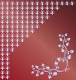 Les fleurs, fond, s'enroule illustration de vecteur